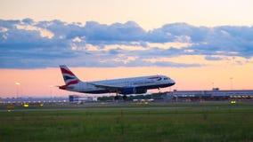 Vollkommene Landung Stockfotos