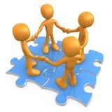 Vollkommene Teamwork Lizenzfreie Stockfotos