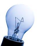 Vollkommene transparente Glühlampe Stockfotos