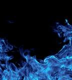 Vollkommener blauer Feuerhintergrund lizenzfreies stockbild