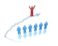 Vollkommener Erfolg im Geschäft. Lizenzfreie Stockbilder