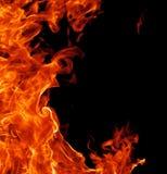 Vollkommener Feuerhintergrund Stockfotografie