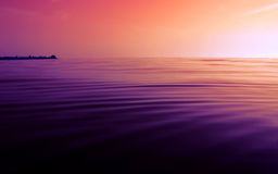 Vollkommener ruhiger Sonnenuntergang Lizenzfreies Stockfoto
