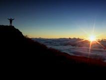 Vollkommener Sonnenaufgang Stockbild