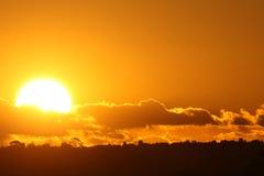 Vollkommener Sonnenuntergang stockfoto