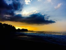 Vollkommener Sonnenuntergang Lizenzfreie Stockfotos