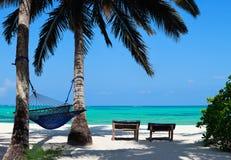 Vollkommener tropischer Strand stockbild