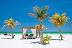 Vollkommener tropischer Strand Stockfoto
