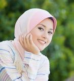 Vollkommenes Lächeln des malaysischen Mädchens Stockfotografie