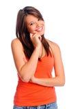 Vollkommenes Mädchenlächeln Lizenzfreie Stockfotos