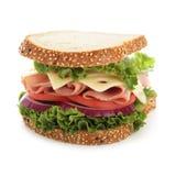 Vollkommenes Schinken- und Käsesandwich Stockbild