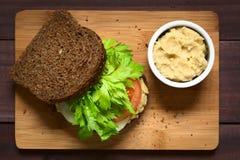Vollkornsandwich des strengen Vegetariers Stockfotografie