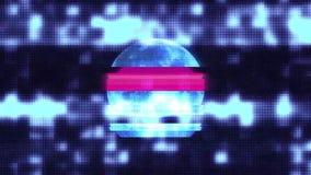 Vollmond auf nervösem Störschub alter lcd führte neuen Schleifenanimationsschwarz-Sternhintergrund der Fernsehcomputerbildschirma vektor abbildung