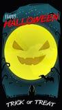 Vollmond Halloweens Lizenzfreies Stockfoto