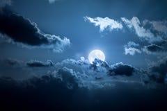Vollmondnacht stockbilder
