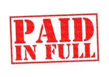 Vollständig gezahlt Lizenzfreie Stockbilder