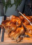 Vollständige gekochte Hühner Lizenzfreies Stockbild