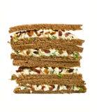 Vollständige Korneisalat-Club Sandwiche stockbild