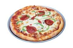 Vollständige Pizza Stockfotografie