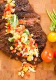 Vollständiges Flanke-Steak lizenzfreie stockbilder