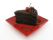 Vollständige Platte des Schokoladenkuchens Lizenzfreie Stockbilder