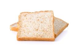 Vollweizen-Brot lokalisiert auf dem weißen Hintergrund Lizenzfreies Stockbild