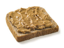 Vollweizenbrot mit Erdnussbutter Lizenzfreie Stockfotografie
