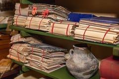 Volúmenes de documentos Fotografía de archivo libre de regalías
