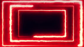 Volo al neon del bakcground con il rettangolo al neon girante d'ardore edless che crea un tunnel, spettro viola di rossi carmini  royalty illustrazione gratis