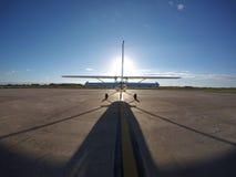 Volo al Sun fotografie stock
