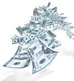 Volo dei soldi Immagine Stock