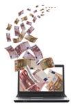 Volo dei soldi di af del lotto via Fotografia Stock