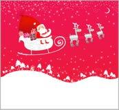 Volo del Babbo Natale Fotografie Stock Libere da Diritti
