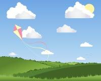 Volo del cervo volante Illustrazione di Stock