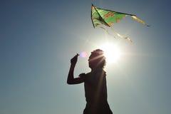 Volo del cervo volante fotografia stock libera da diritti