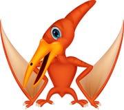 Volo del fumetto del dinosauro Fotografia Stock