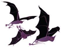 Volo del pipistrello di Halloween Fotografie Stock