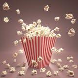 Volo del popcorn Fotografia Stock Libera da Diritti