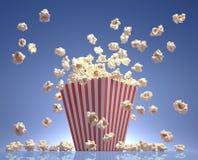 Volo del popcorn Fotografia Stock