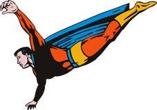 Volo del supereroe illustrazione di stock