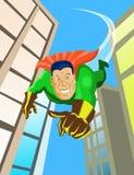 Volo del supereroe Immagini Stock