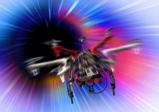 Volo del vortice del fuco Fotografie Stock