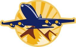 Volo dell'aereo dell'aeroplano del Jumbo-jet Fotografie Stock