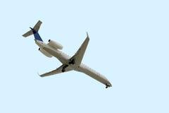 Volo dell'aeroplano Fotografia Stock