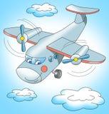 Volo dell'aeroplano nel cielo Immagini Stock Libere da Diritti