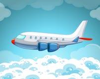 Volo dell'aeroplano nel cielo illustrazione vettoriale