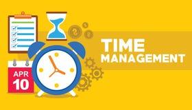 Volo dell'orologio della gestione di tempo con il concetto di affari dell'ingranaggio Fotografie Stock Libere da Diritti
