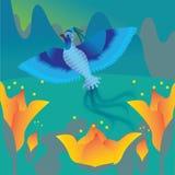 Volo dell'uccellino azzurro Immagine Stock Libera da Diritti