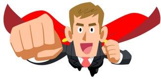 Volo dell'uomo d'affari con un mantello royalty illustrazione gratis