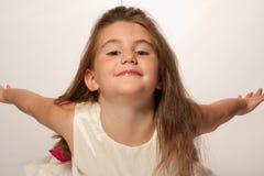 Volo della bambina fotografie stock libere da diritti